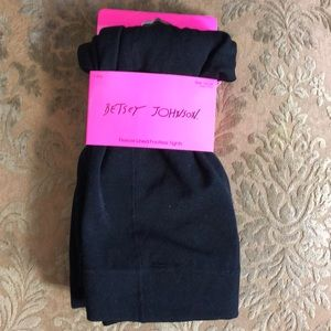 Betsey Johnson Fleece Lined Footless Tights 1X/2X